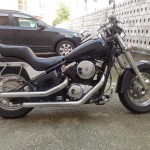 Vydražené - motocykel  Kawasaki VN